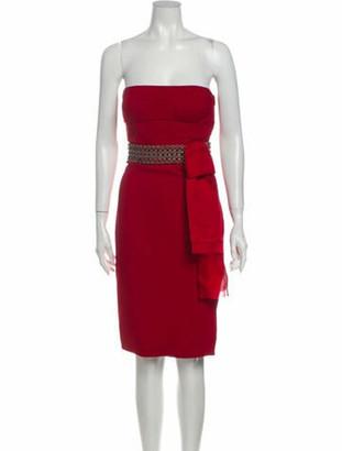 Valentino Strapless Mini Dress Red