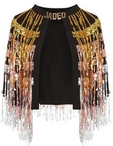 Jaded London **Sequin Fringed Cape