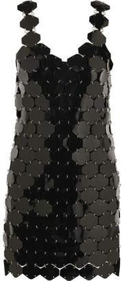 Paco Rabanne Embellished Metallic Mini Dress - Black