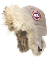 Canada Goose Women's Aviator Hat With Genuine Coyote Fur Trim