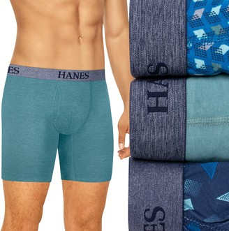 Hanes Men's Big & Tall Ultimate 3-pack Tagless Stretch Boxer Briefs