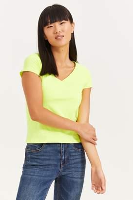Ardene Basic Neon V-Neck T-shirt