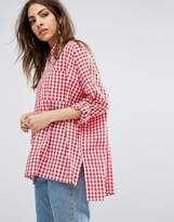 Daisy Street Relaxed Shirt In Gingham