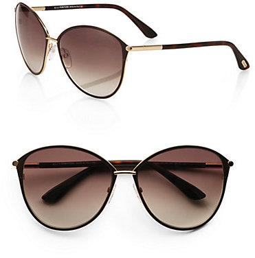 Tom Ford Penelope Metal Cat's-Eye Sunglasses