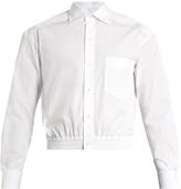 Balenciaga Cropped Cotton-poplin Shirt