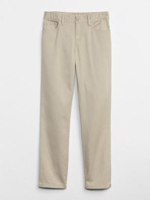 Gap Kids Uniform Straight Chino Pants in Stretch