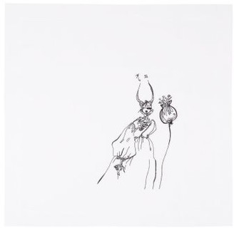 Peter Reed Giles Deacon X Set Of Two Embroidered Linen Napkins - White Multi