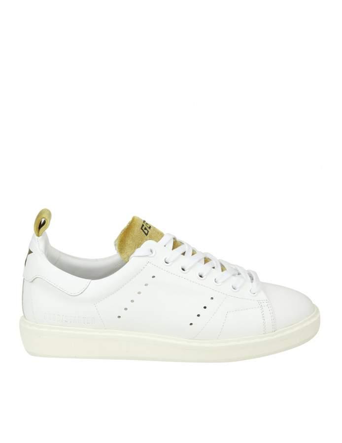 Golden Goose starter Sneakers In White Leather With Velvet Details