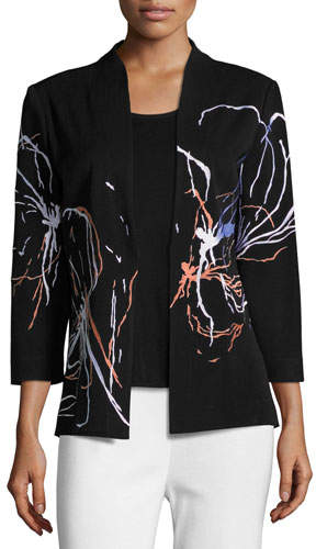 Misook Fireworks Embroidered Jacket