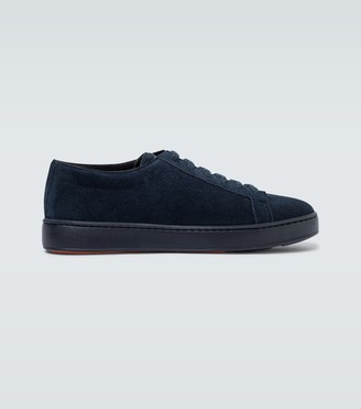Santoni Suede low-top sneakers