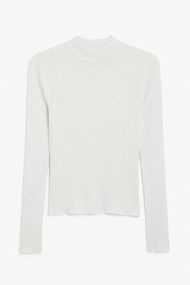 Monki Sparkly ribbed knit top