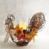Pier 1 Imports Floral Chicken Hurricane Candle Holder