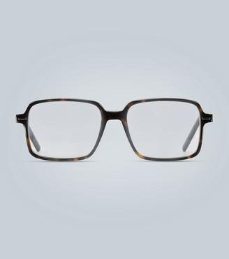 Christian Dior Square-frame tortoiseshell glasses