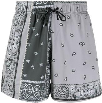 Amiri Paisley Print Swim Shorts
