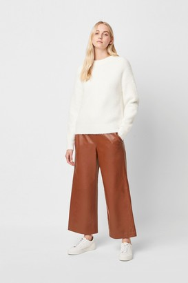 French Connection Alia Leather Culottes