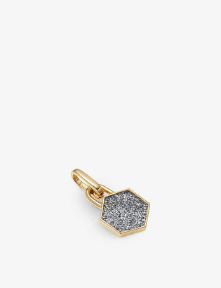 Missoma Hexagonal 18ct yellow gold-plated vermeil and star quartz clip-on pendant