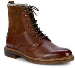 Bruno Magli Shearling-Lined Leather Lace-Up Boots