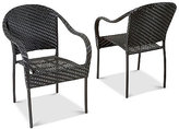 Farey Outdoor Wicker Arm Chair, Quick Ship