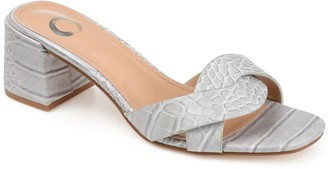 Journee Collection Perette Croc Embossed Sandal