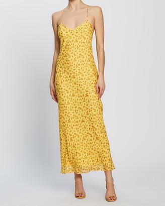 Dazie - Women's Yellow Midi Dresses - Riviera Slip Dress - Size 6 at The Iconic