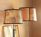 Map Drum Lamp Shade