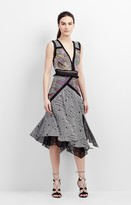Nicole Miller Mola Maze Asymmetric Dress