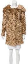 Blumarine Textured Faux Fur Coat