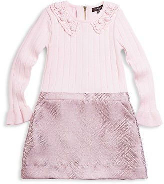 Imoga Girl's Sweater & Jacquard Woven Dress