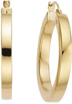 FINE JEWELRY Gold Opulence 14K Gold Over Diamond Resin Polished Squared Hoop Earrings