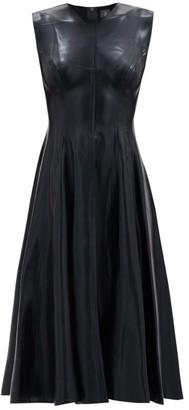 Norma Kamali Grace Flared Satin Dress - Black
