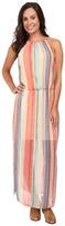 Stetson Aztec Stripe Chiffon Sleeveless Maxi Dress
