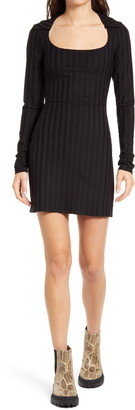 Reformation Vittoria Rib Long Sleeve Knit Dress