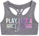Ideology Play Like A Girl Graphic Sports Bra, Big Girls (7-16), Only at Macy's