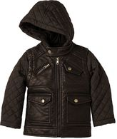 Urban Republic Boys 4-7 Quilted Faux-Leather Moto Jacket