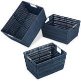 Whitmor, Inc Rattique 3 Piece Basket Set
