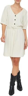 Vero Moda Day Puff Sleeve Linen Blend Minidress