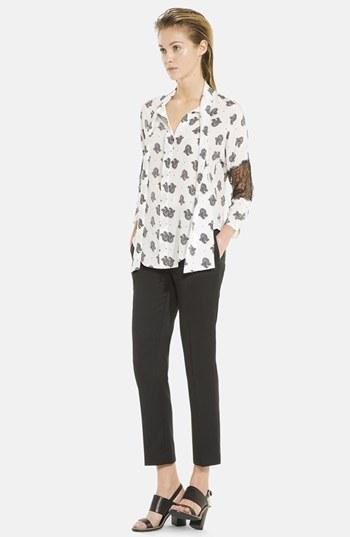 Sandro 'Etonnante' Silk & Lace Shirt