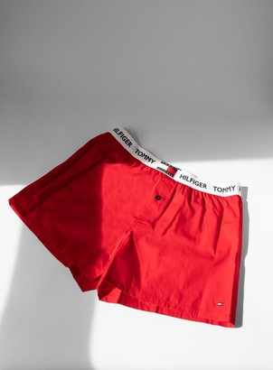 Topman TOMMY HILFIGER Red Woven Trunks