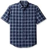 Arrow Men's Solid Crosshatch Short Sleeve Shirt
