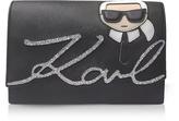 Karl Lagerfeld K/Ikonik Black Shoulder Bag
