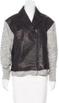 Tibi Paneled Leather Jacket