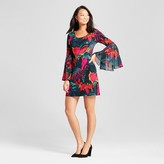 Chiasso Women's Floral Printed Bell Sleeve Shift Dress