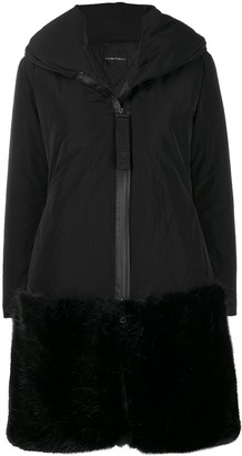 Emporio Armani Faux Fur Hem Shell Coat
