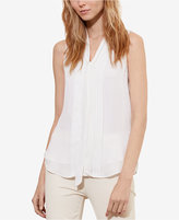 Lauren Ralph Lauren Petite Pleated-Front Georgette Top