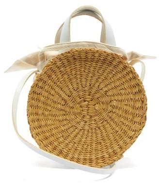 Muun Rosie Straw Basket Bag - White Multi