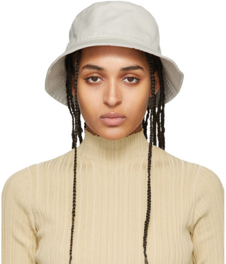 Acne Studios Beige Cotton Canvas Bucket Hat