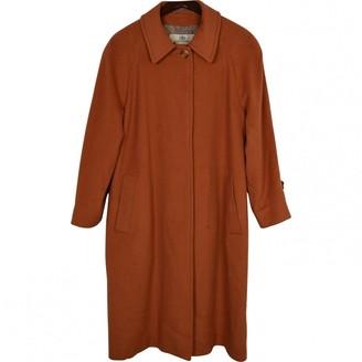 Aquascutum London Orange Wool Coat for Women Vintage