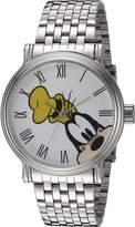 Disney Goofy Men's W002331 Goofy Analog Display Analog Quartz Silver Watch