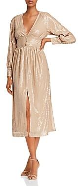 OPT Hera Sequin Peasant Dress