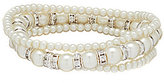 Cezanne Faux-Pearl Trio Stretch Bracelet Set